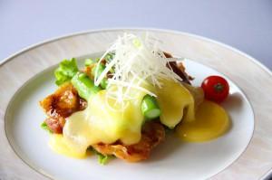 アスパラとチキンのチーズ焼き 850円