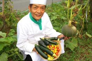自家農園の採れたて野菜